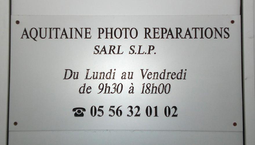 Plaque gravée en PVC